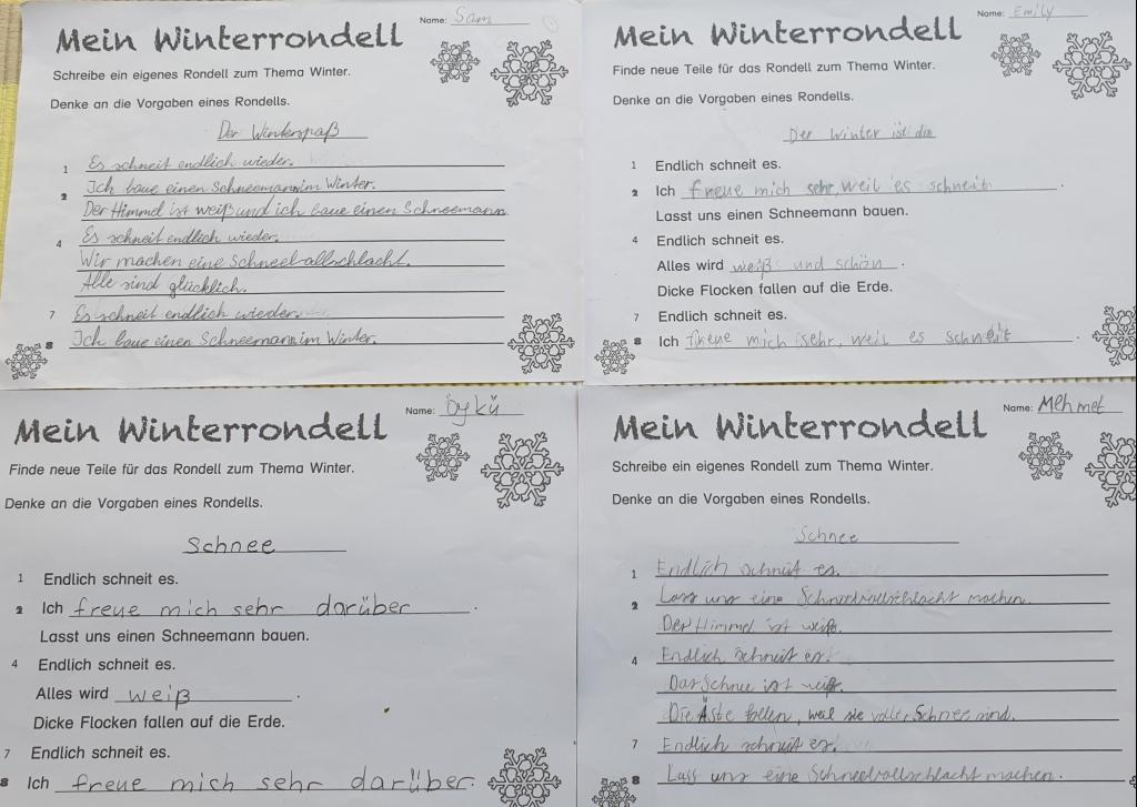 Gedicht winter rondell GGS Bielstein